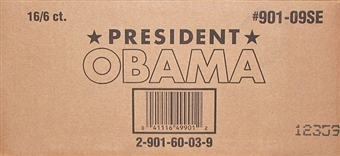 President Barack Obama Collector Trading Cards Value 16-Box Case (2009 Topps)