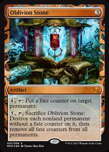 Magic the Gathering Kaladesh Inventions Single Oblivion Stone Foil NEAR MINT (NM)