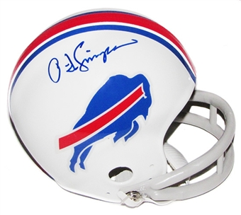 O.J. Simpson Autographed Buffalo Bills Mini Helmet (JSA COA)