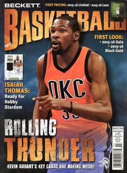 2016 Beckett Basketball Monthly Price Guide (#286 July) (Kevin Durant)