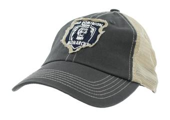 Old Dominion Monarchs Top Of The World Slated Gray Snapback Hat (Adult One Size)