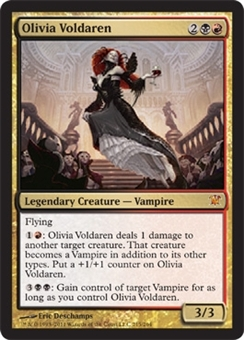 Magic the Gathering Innistrad Single Olivia Voldaren (VG) - HEAVY PLAY (HP)