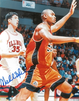 Michael Olowokandi Autographed Pacific University Boxers  8x10 Photo (Press Pass)
