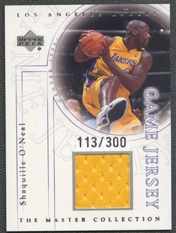 2000 Upper Deck Lakers Master Collection Game Jerseys #SOJ Shaquille O'Neal 113/300