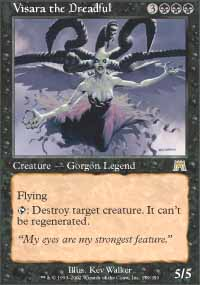 Magic the Gathering Onslaught Single Visara, the Dreadful - MODERATE PLAY (MP)
