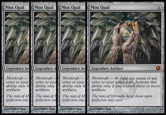 Magic the Gathering Scars of Mirrodin 4x PLAYSET Mox Opal - NEAR MINT (NM)/SLIGHT PLAY(SP)