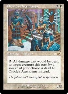 Magic the Gathering Nemesis Single Oracle's Attendants Foil