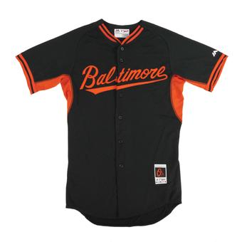 Baltimore Orioles Majestic Black BP Cool Base Authentic Performance Jersey (Adult 48)