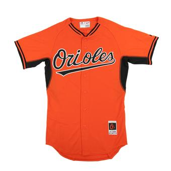 Baltimore Orioles Majestic Orange BP Cool Base Authentic Performance Jersey (Adult 52)