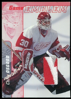 2000/01 BAP Signature Series Jersey Emblems Patch #E14 Chris Osgood SP /10