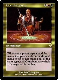 Magic the Gathering Invasion Single Overabundance Foil