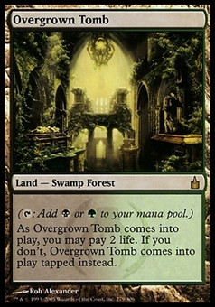 Magic the Gathering Ravnica: City of Guilds Single Overgrown Tomb FOIL -SLIGHT PLAY (SP)