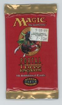 Magic the Gathering Portal 3: Three Kingdoms Booster Pack - Original Price Sticker on Wrapper