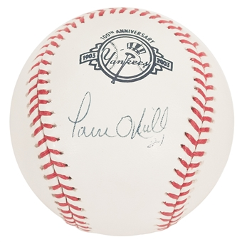 Paul O'Neill Autographed New York Yankees 100th Anniversary Official MLB Baseball (PSA)