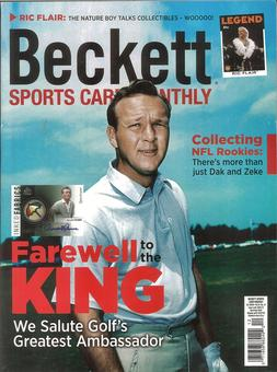 2016 Beckett Sports Card Monthly Price Guide (#381 December) (Arnold Palmer)