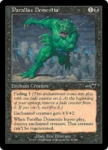 Magic the Gathering Nemesis Single Parallax Dementia Foil
