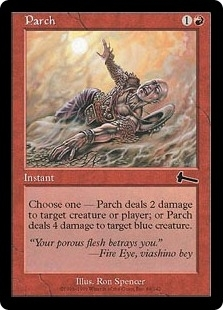Magic the Gathering Urza's Legacy Single Parch Foil