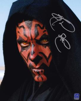 Ray Park Autographed Darth Maul Face 8x10 Star Wars Photo