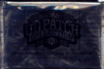 2003 Upper Deck Patch Collection Baseball Hobby Box Topper Pack