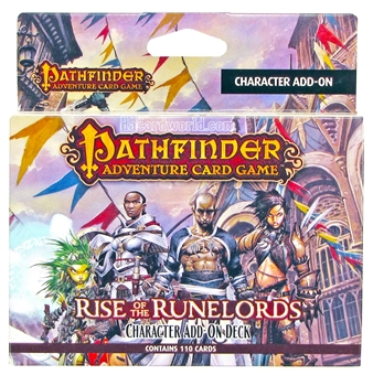 Pathfinder Game: Rise of the Runelords Character Add-On Deck Box