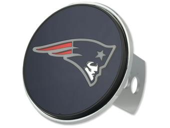 "New England Patriots Rico Industries 4 "" Laser Trailer Hitch Cover"