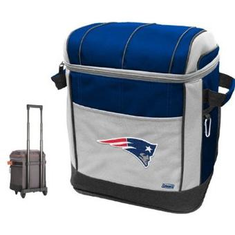 Coleman New England Patriots Soft-Side Rolling 50 Can Cooler