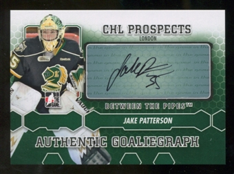 2012/13 In the Game Between The Pipes Autographs #AJPAT Jake Patterson Autograph