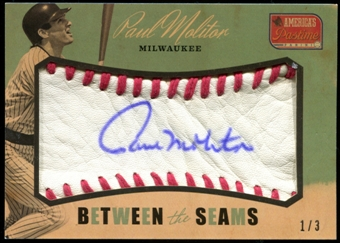 2013 Panini America's Pastime Between the Seams #41 Paul Molitor 1/3