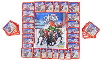 Panini Marvel Avengers Assemble Stickers - 50 Packs PLUS 1 Album