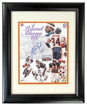 Walter Payton Autographed Chicago Bears Framed Photograph (Stacks of Plaques COA)