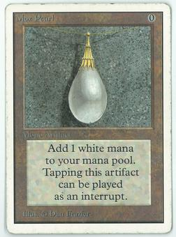 Magic the Gathering Unlimited Single Mox Pearl - MODERATE/HEAVY PLAY (MP/HP)
