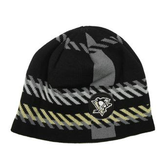 Pittsburgh Penguins Old Time Hockey Black Bolgar Beanie Knit Hat (Adult OSFA)