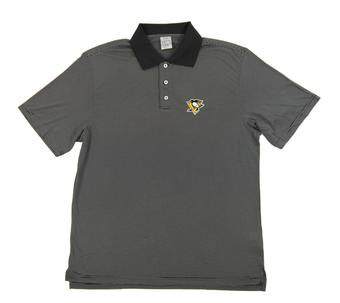 Pittsburgh Penguins Level Wear Dunhill Black Performance Polo (Adult Large)