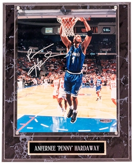 "Anfernee ""Penny"" Hardaway Autographed Orlando Magic 8x10 Photograph Plaque (UDA)"