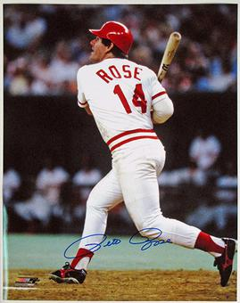 Pete Rose Autographed Cincinnati Reds 16x20 Baseball Photo Week of Stars