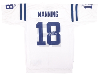 Peyton Manning Autographed Indianapolis Colts White Super Bowl Jersey (Steiner)