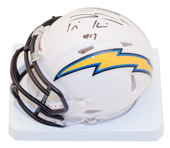 Philip Rivers Autographed San Diego Chargers Speed Mini Helmet (JSA)