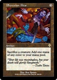 Magic the Gathering Invasion Single Phyrexian Altar Foil