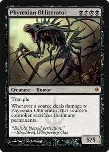 Magic the Gathering New Phyrexia Single Phyrexian Obliterator Foil
