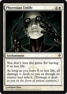 Magic the Gathering New Phyrexia Single Phyrexian Unlife UNPLAYED (NM/MT) 4x Lot
