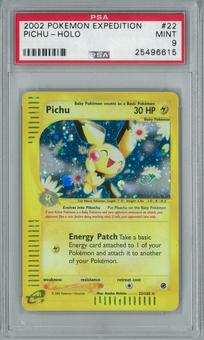 Pokemon Expedition Pichu 22/165 Holo Rare PSA 9