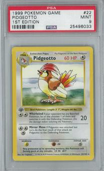 Pokemon Base Set 1 1st Edition Shadowless Single Pidgeotto 22/102 - PSA 9