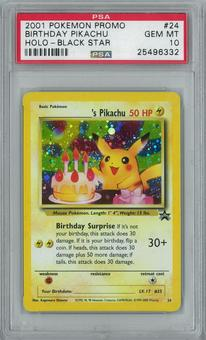 Pokemon Black Star Promo Birthday Pikachu 24 Holo Rare PSA 10