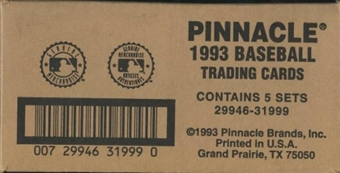 1993 Pinnacle Joe DiMaggio Hobby 5-Set (Box) Case (w/ 5 DiMaggio Autos)