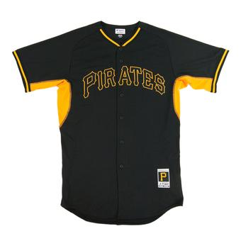 Pittsburgh Pirates Majestic Black BP Cool Base Authentic Performance Jersey (Adult 44)