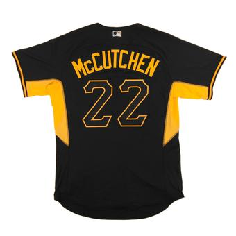 Pittsburgh Pirates #22 McCutchen Majestic Black BP Cool Base Authentic Jersey (Adult 48)