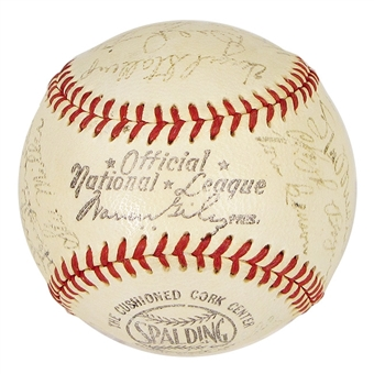 1952 St Louis Cardinals Autographed Team Signed Baseball (JSA COA)