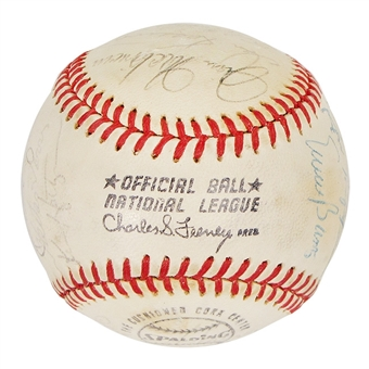 1971 Chicago Cubs Autographed Team Signed Baseball (JSA COA) 24 Signatures