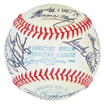 1972 California Angels Autographed Team Signed Baseball (JSA COA) 23 Signatures (B)