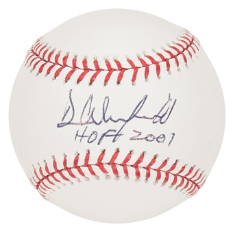 """Dave Winfield Autographed New York Yankees Official MLB Baseball w/""""HOF 2001"""" Insc (PSA)"""
